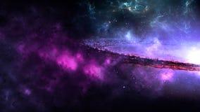 Планеты и галактика, космос, физическая космология иллюстрация вектора
