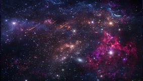 Планеты и галактика, обои научной фантастики Красота глубокого космоса иллюстрация штока