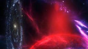 Планеты и галактика, обои научной фантастики Иллюстрация штока