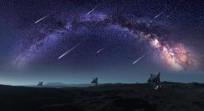 Планеты и галактики, обои научной фантастики Красота глубокого космоса Стоковое фото RF