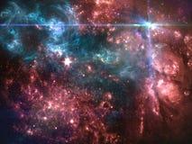 Планеты и галактики, обои научной фантастики Красота глубокого космоса Стоковая Фотография