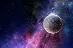Планеты и межзвёздное облако космоса стоковые изображения