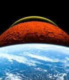 Планеты солнечной системы изолированной на черной предпосылке Некоторые элементы этого изображения поставлены NASA иллюстрация штока
