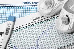 Планирование беременности Диаграмма рождаемости Стоковая Фотография RF