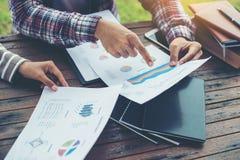 Планирование корпоративного бизнеса с концепцией сыгранности диаграммы дела Стоковая Фотография