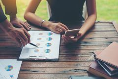 Планирование корпоративного бизнеса с концепцией сыгранности диаграммы дела Стоковые Изображения RF