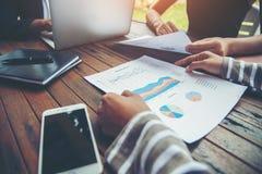 Планирование корпоративного бизнеса с концепцией сыгранности диаграммы дела Стоковая Фотография RF