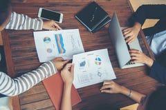 Планирование корпоративного бизнеса с концепцией сыгранности диаграммы дела Стоковые Фотографии RF