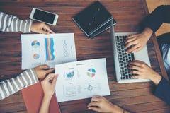 Планирование корпоративного бизнеса с концепцией сыгранности диаграммы дела Стоковые Изображения