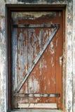 Планки старой деревянной коричневой двери дома пастельные деревянные Стоковые Изображения RF