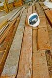 планки трудного шлема деревянные Стоковое Фото