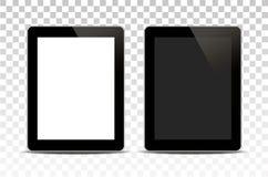 Планшет вектора белый изолированный на прозрачной предпосылке стоковое фото rf