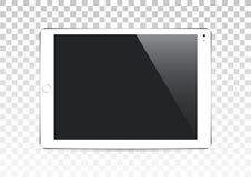 Планшет вектора белый изолированный на прозрачной предпосылке стоковая фотография