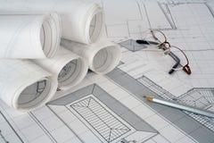 планы архитектора Стоковое фото RF
