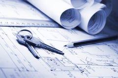 планы дома Стоковое Изображение RF
