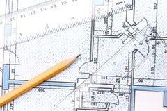 планы здания Стоковое фото RF