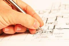 планы здания Стоковые Фотографии RF