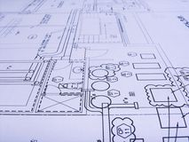планы инженерства Стоковая Фотография