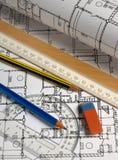 планы карандашей Стоковые Изображения RF