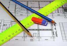планы карандашей Стоковые Фото