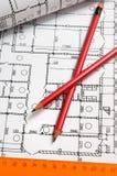 планы карандашей Стоковое фото RF