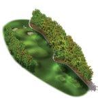 планы отверстия гольфа курса 3d Стоковая Фотография RF
