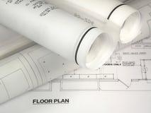 планы строительства стоковое изображение rf