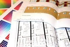 планы цвета диаграммы Стоковые Фотографии RF
