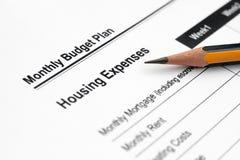 план бюджети ежемесячный Стоковые Изображения