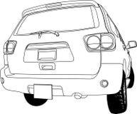 План вектора взгляда автомобиля задний Иллюстрация вектора