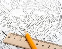 план города Стоковые Фотографии RF