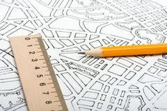 план города Стоковое Фото