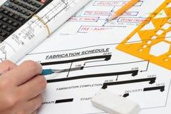 план-график изготовления Стоковые Фотографии RF