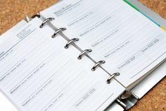 план-график книги Стоковая Фотография