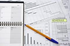 план-график проекта изготавливания Стоковые Фотографии RF