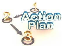 план действия Стоковые Изображения