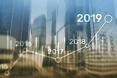 План 2019 для финансового роста Принципиальная схема дела и вклада иллюстрация вектора