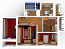 План дома â4 Стоковая Фотография RF