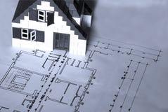 план дома архитектора Стоковые Изображения