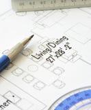 план дома конструкции светокопии архитектора стоковые изображения rf