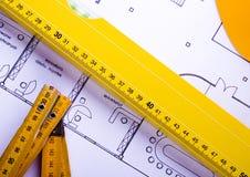 план дома светокопий Стоковая Фотография RF