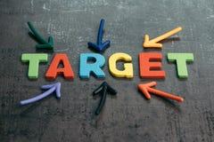 План или цель цели дела для концепции успеха, multi красочного Стоковые Фотографии RF