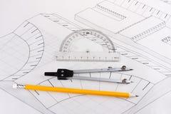 план инженерного сооружения здания Стоковое Фото