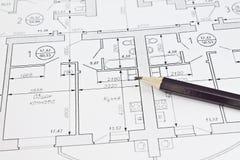 план квартиры Стоковые Изображения RF