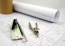 план конструкции вспомогательного оборудования Стоковое Изображение RF