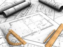 план конструкции иллюстрация штока