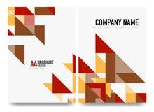 План крышки брошюры дела, шаблон рогульки a4 иллюстрация штока