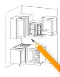 план кухни стоковая фотография rf