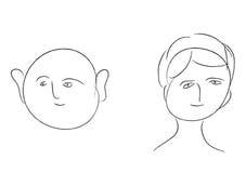 план людей Иллюстрация штока