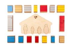 План мебели кухни Концепция хозяйственные товары стоковые изображения